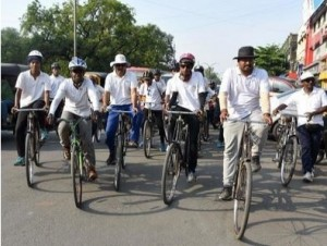 Students pedal from Jhansi to back adventure