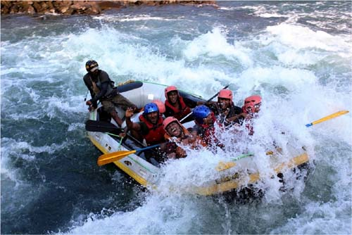 Rafting in the Brahmputra